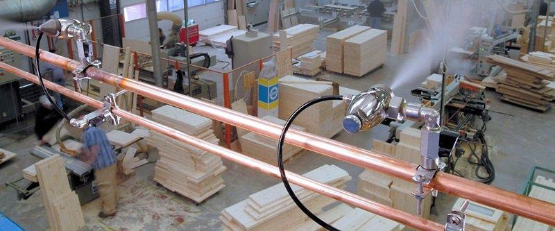 Промислові зволожувачі повітря для цеху деревообробки