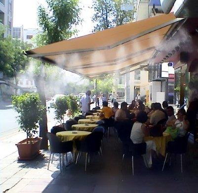 Наборная система туманообразования в действии