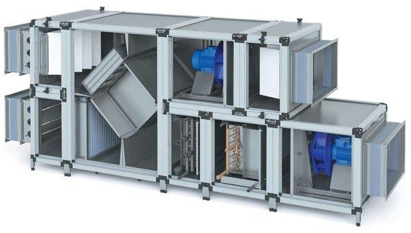 Приточно-вытяжная установка с рекуперацией тепла