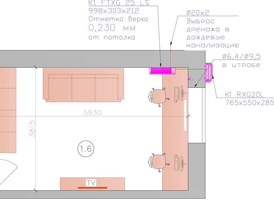 Кондиционирование однокомнатной квартиры