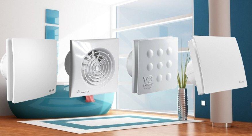 Бытовые вентиляторы для ванных комнат