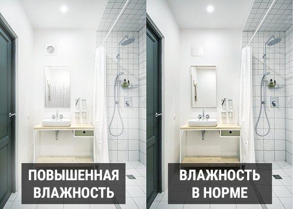 Повышенная влажность в ванной комнате