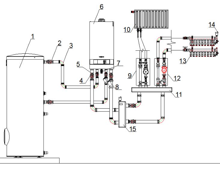 система отопления частного дома с газовым котлом