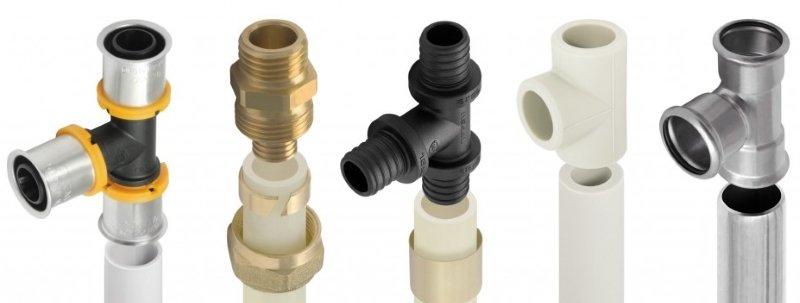 Типы труб и фитингов для систем отопления и ГВС